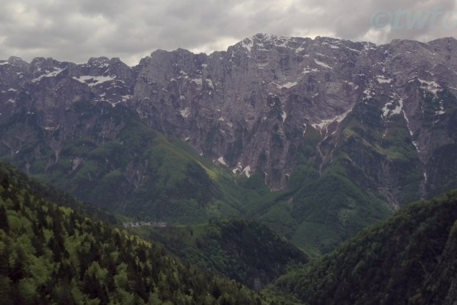 The longest mountain face in Slovenia and the Julian Alps