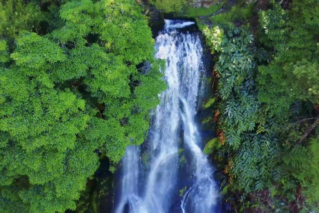 waterfall azores portugal