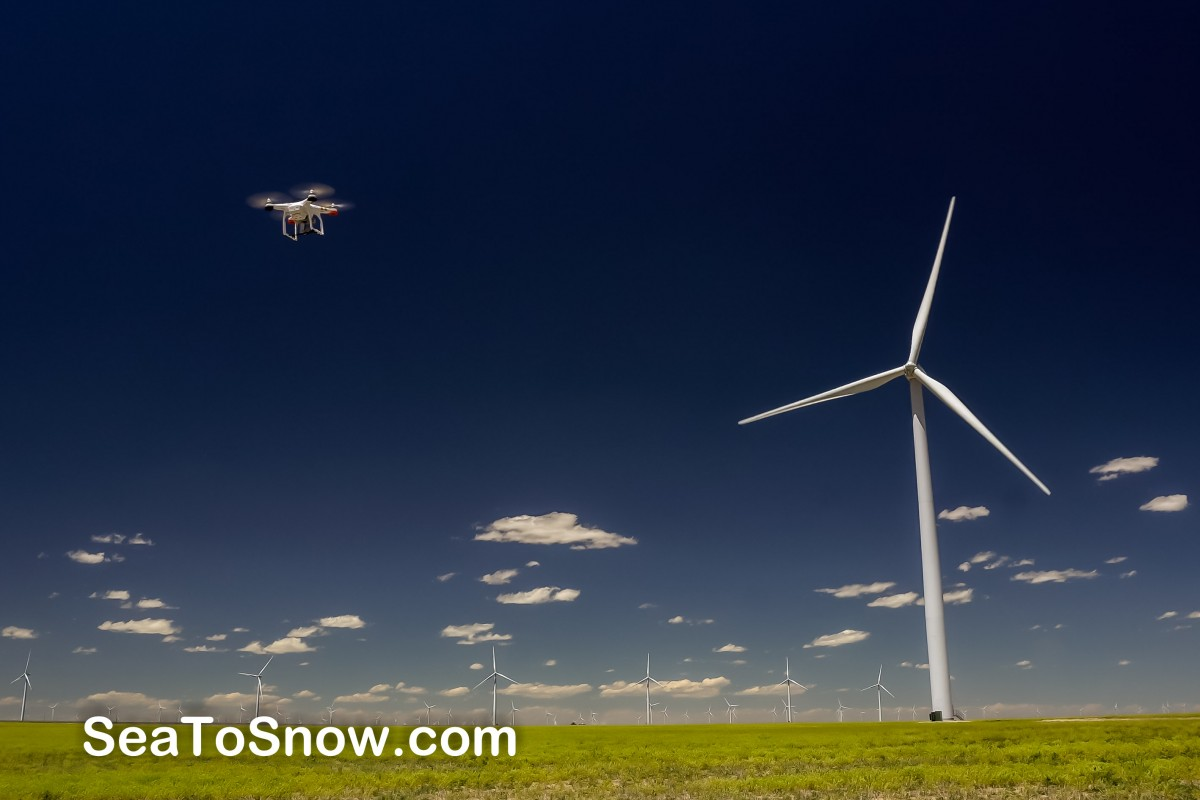 Wind farm on Colorado's Eastern Plains.