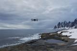 Mavic caught flying over Tungeneset, Senja, Norway
