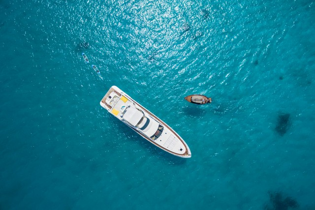 Yacht from the sky