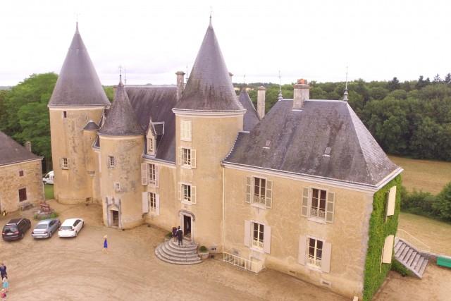 Chateau dans le Limousin, France