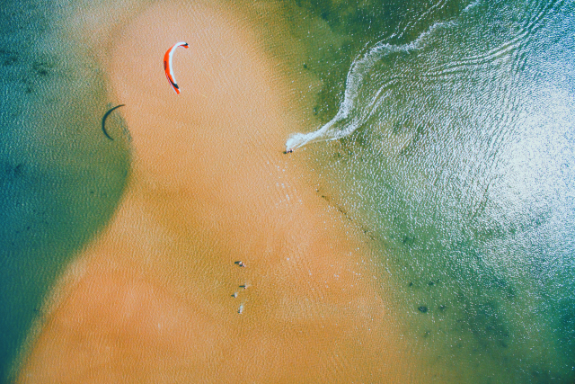 Kitesurf from above