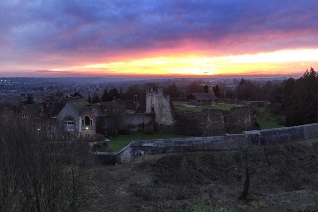 Sunset over Farnham Castle, UK V2