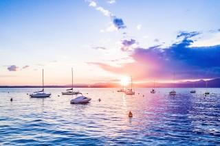 Sunset over Lago di Garda, Italy