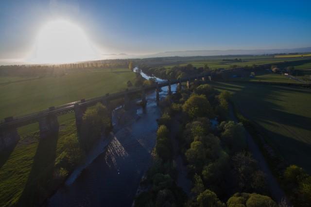 Marykirk railway bridge at dusk