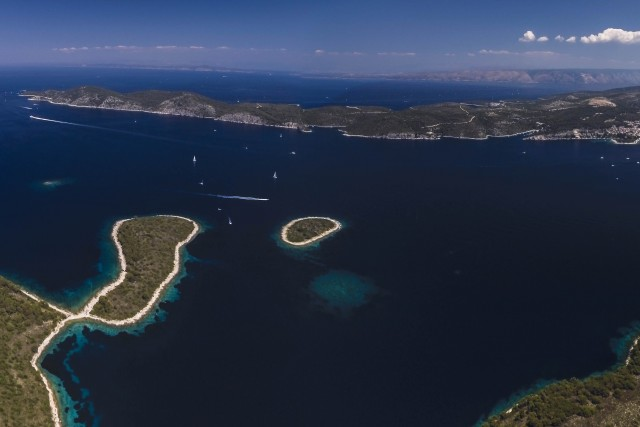 Pano of Paklinski Islands, Hvar, Croatia