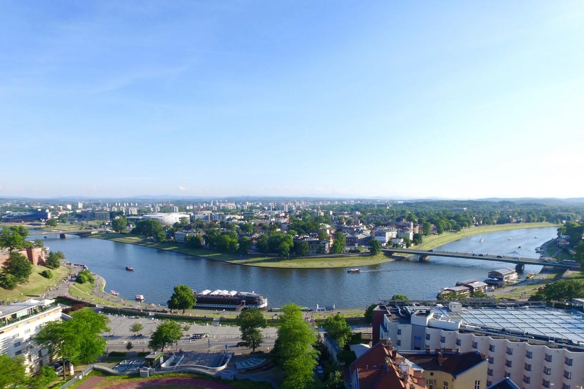 Krakow river view
