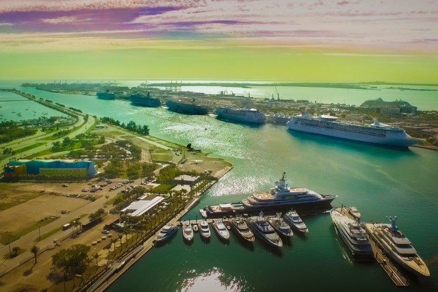 Rainbow Skies Over the Biggest Miami Marina