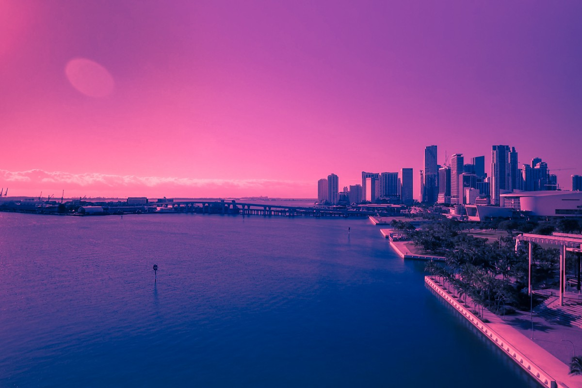 Miami Skyline and Perez Museum Magic
