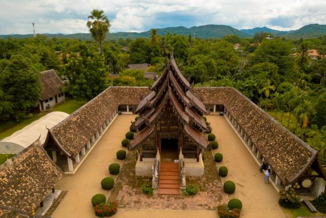 Temple – Thailand – Chiang Mai Aerial