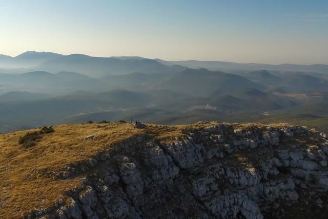 On top of Le Robion (1660 m), Verdon / Haute Provence / France