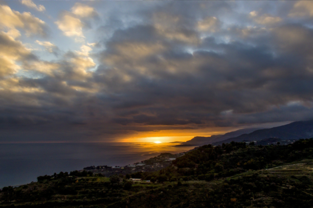 Sunset in Ventimiglia.