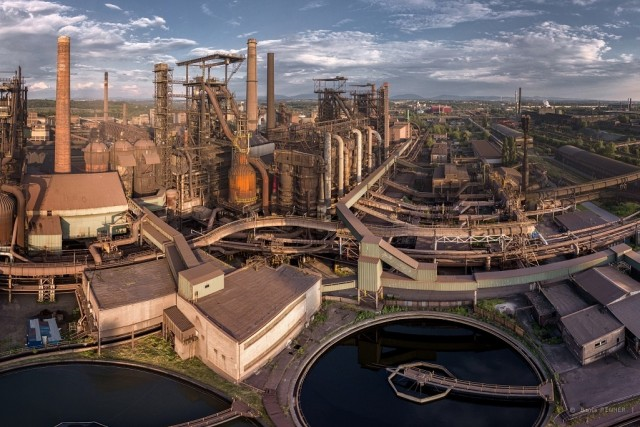 The Arcelor Mittal blast furnace in Ostrava