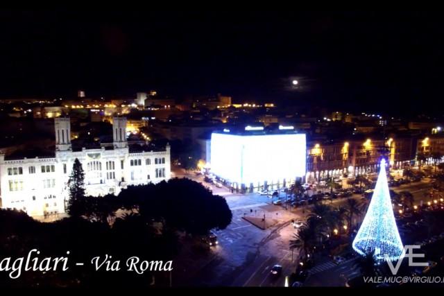 Cagliari, via Roma a Natale