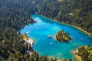 Lac de Caumasee (Grisons) (Suisse)