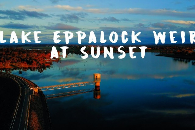 Check out Lake Eppalock Weir at Sunset