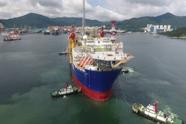 FPSO Ichthys Venturer sail away