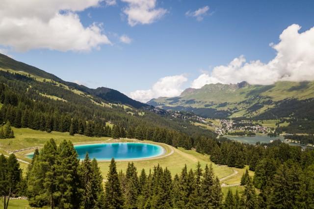 Petit lac artificiel (Grisons) (Suisse)