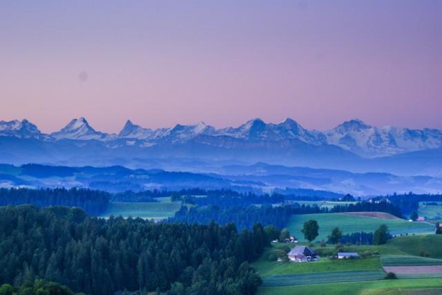 Morning in Switzerland