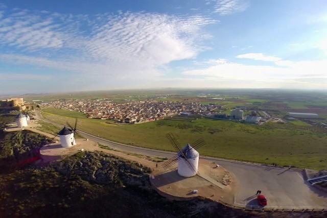 Molinos de Consuegra a vista de Dron