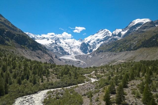 Glacier du Morteratsch (Grisons) (Suisse)