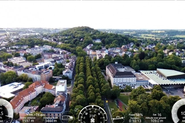 NICE DRONE VIDEO, AACHEN GERMANY FROM ABOVE, FLIGHT DATA