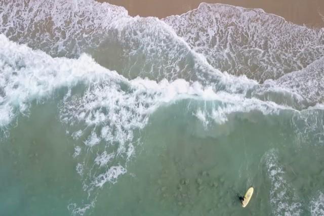 Playa de Razo a vista de Dron