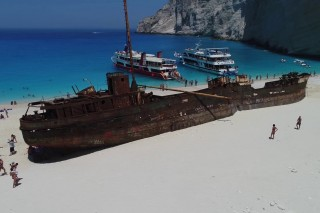 Shipwreck Beach. Navagio. Greece.