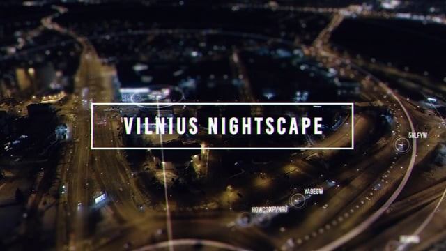 Vilnius City Nightscape