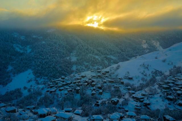 Winter Flight At Pentalofos, Greece