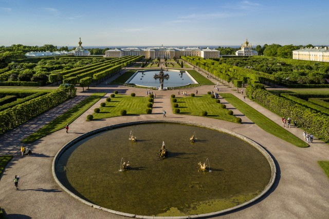 Peterhof upper gardens