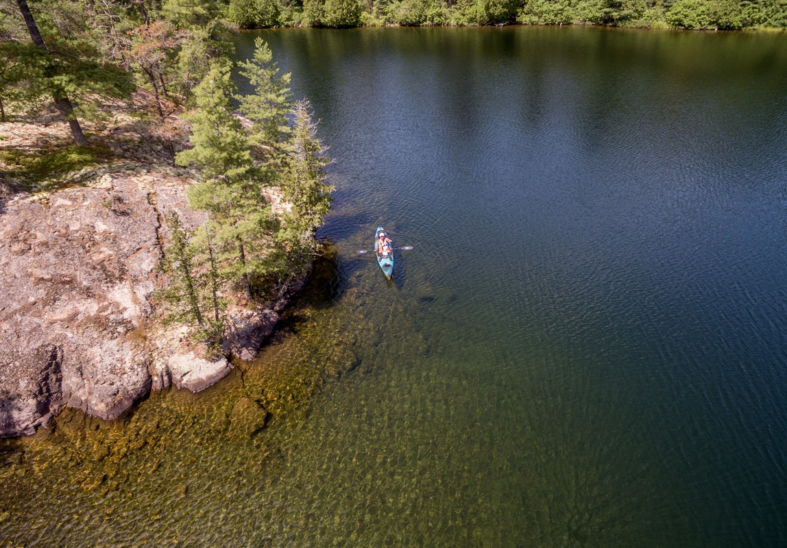 Kayaking in the wild