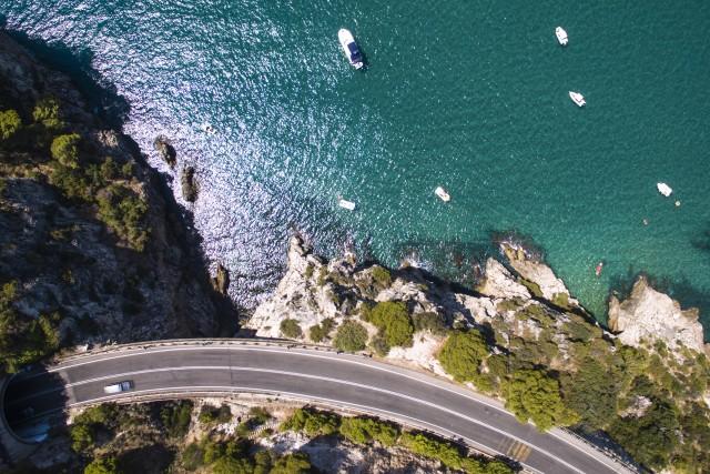 Postcard from the sky, Sperlonga, Italy