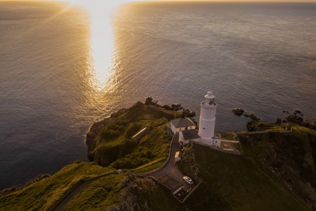 Sunrise – Lighthouse – Devon Aerial