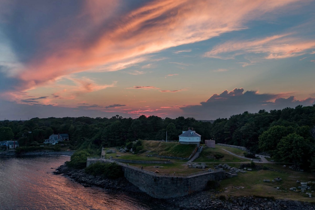 Sunsets near Portsmouth, NH