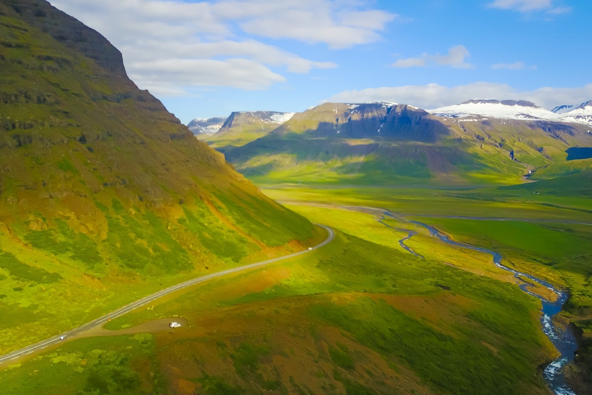 Endless landscapes in eastern iceland