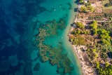 Beautiful reef at South Corfu Greece.