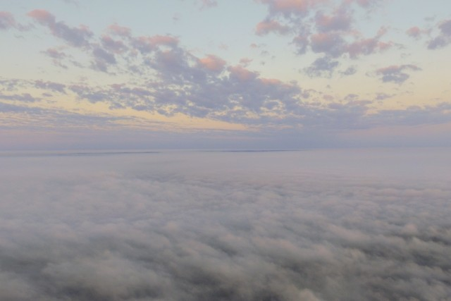 Drone above the fog