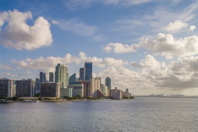 Downtown Miami from a distance