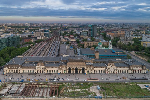 Paveletsky Railway Station, Moscow, Russia