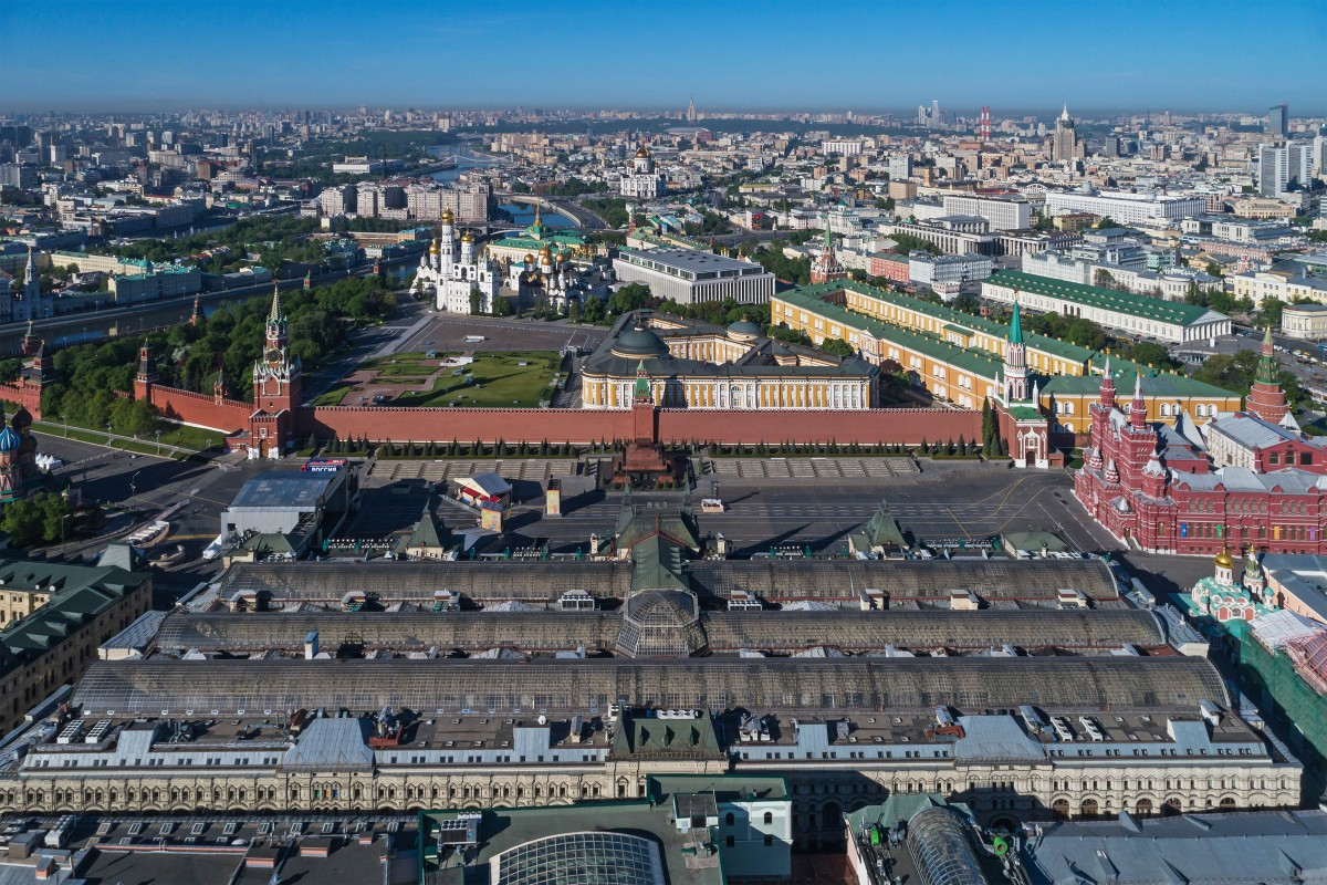 GUM, Red Square, and Kremlin, Moscow, Russia