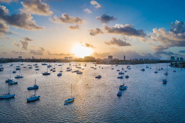 Sunrise at Watson Island, Miami Beach FL