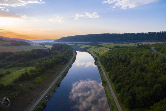 Sonnenaufgang – Altmühltal bei Dietfurt