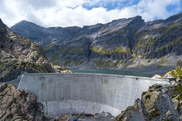 Barrage du vieux Emosson (Suisse) (Valais)