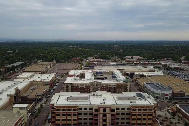 Flying High above Shopping Center