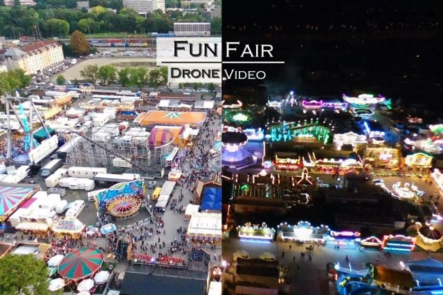 Funfair at Day and Night