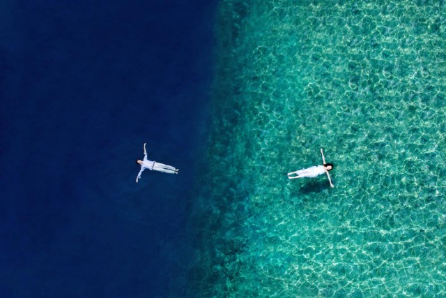Moorea with drone operator flying world pictures