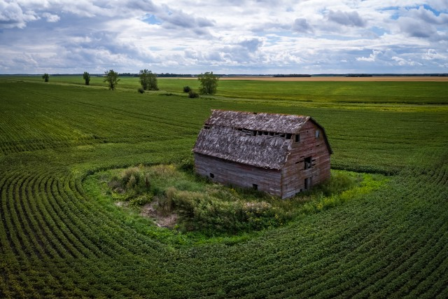 Old Barn, Manitoba, Canada