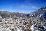 Snow in San Martin de los Andes Patagonia Argentina.
